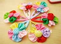 Free Shipping,Wholesale(36pcs/lot) Flower Kids' Hairpins/Girls' Hair Ornament/Hair Strips/Kids'  Headwear