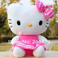 High quality hellokitty cat doll wear skirt cute kitty cat, girls birthday gift & Christmas gift