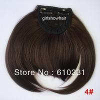 Fashion Hair bang,clip in hair bang,Neat hair bang,synthetic hair bang, Classical style hair fringe, color 4#