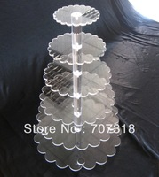 Best offer Plastic 6 tier wedding cake & party cupcake stand