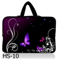 "Neoprene Purple Butterfly  15"" 15.4"" 15.6"" Inch Laptop Notebook Sleeve bag Case Cover Pouch Skin Protector w/hidden handle"