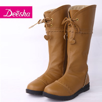 DEESHA 2012 autumn and winter new arrival female child fashion brief tall boots 1248526