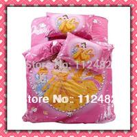3pcs Bedding Set Cartoon Diamond Princess Cotton children Kid Bedding Free Shipping