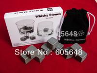 9x Whiskey Scotch Soapstone Cold Glacier Stone Wine Bev Chillers Ice Cubes Rocks