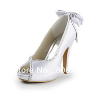 Satin Stiletto Heel Peep Toe With Bowknot Party / Evening Shoes (More Colors)