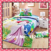 3pcs Bedding Set Cartoon Princess Cotton children Kid Bedding Free Shipping