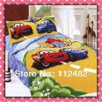 3pcs Bedding Set Cartoon Cars Cotton children Kid Bedding Free Shipping
