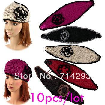 10pcs/lot Free shipping Fashion Women's Girl Lady Headband Hairband Knit crochet Headwrap 9106