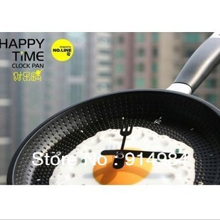 Free shipping ideas fried egg pan with handle parlour kitchen wall clock  Hot selling