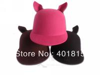 Free Shipping Women's Wool felt Fedora,Cute Wool Felt Hat, Cat-World Wool hat