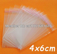 Clear Self-Adhesive Seal Plastic Bags 4x6cm