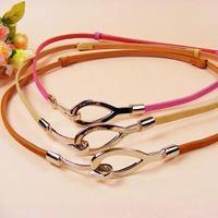 Pigskin hasp adjustable thin belt decoration belt women's belt belly chain