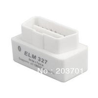 Newest Professional USB White Color V1.5 super mini ELM327 Bluetooth OBD-II OBD with high perfomance and best price
