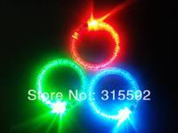 Free Shipping 480pcs/lot LED bracelet light up flashing bracelet Blinking Crystal bracelet for Christmas