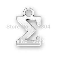 free ship 15pcs a lot fashion cheap antique silver Greek Alphabet Sigma jewelry charm