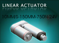 linear actuator 10mm/s  150mm  stroke 750N  24VDC