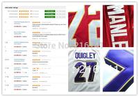Personalized Football Jerseys-Free/Fast Shipping,Sewn On 2012 New Brand Custom Football Game Jerseys,Size:S,M,L,XL,XXL,XXXL