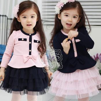 2012 autumn elegant princess girls clothing baby long-sleeve dress qz-0314