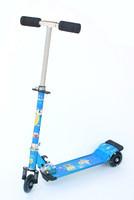 Aluminum child tricycle scooter belt shock absorption flash wheel belt