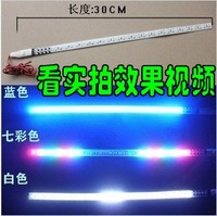 Free Shipping Auto LED decorative lights Knight Rider lamp Scanner Light strobe lamps+Automatically flashes+30cm,32 LED lamps