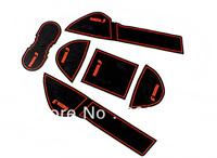 free shipping  6 pcs Gate slot pad rubber car-cup mat pad non-slip mat  for  2011 Mazda 3