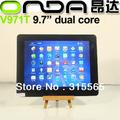 """SG HK размещать Бесплатные ONDA V971T dual core 9.7"""" Tablet pc емкостной две камеры 1G/16Г andriod 4.1"""