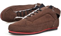 Men Fashion Sneakers Warm Lace-up Shoes Casual Shoes Brown Free Shipping 1 Pair