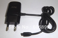 Free shipping 2pcs/lot Portable EU Standard Travel emergency mobile phone Charger Adapter for HTC