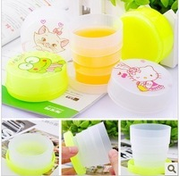 Cartoon retractable cup glass travel  leak-proof sealed cup
