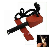 Free Shipping) 200pcs/lot Survival Flint Magnesium Striker Fire Starter Stick Rod