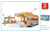Best gift Building Block Set SlubanB0332 car bus    Model Enlighten Construction Brick Toy Educational  Toy for Children