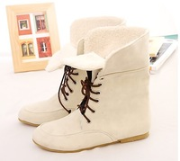 Free shipping 2013 comfortable flat female boots short boots female boots round head snow boots