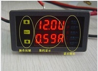 Free shipping,DC10-90V 100A Dual LED Display Voltmeter Ammeter Voltage AMP Power Meter