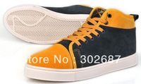 Men Fashion Splice Sneakers Warm Lace-up Shoes Skate Shoes Yellow Free Shipping 1 Pair