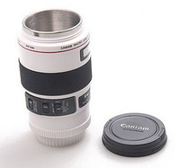 Free shipping stainless steel Coffee camera lens mug cup (Caniam) logo Wholesale