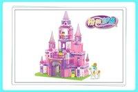 gift Building Block Set SlubanB0152 Pink dream/princess castle    Enlighten Construction Brick Toy Educational  Toy for Children