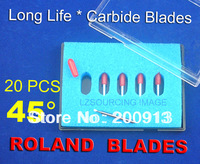Free shipping!  20 pc High Quality Cutter Blade blades for Roland liyu GCC cutting plotter vinyl cutter ( 45 degree small head )