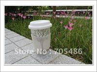 Whosale 100pcs/lot Eco 'I'm Not a Paper Cup' Travel Mug Ceramic cup Four Seasons tree elegance mug trees