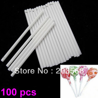 D19+100 pcs Pop Sucker Sticks Chocolate Cake Lollipop lolly Candy Making Mould White Free Shipping