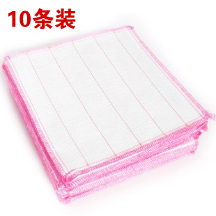 10 plus cotton wood fiber cloth wash cloth multifunctional unoil dish towel(China (Mainland))