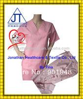 Lady's nurse scrubs/ medical scrub suits/ hospital uniform