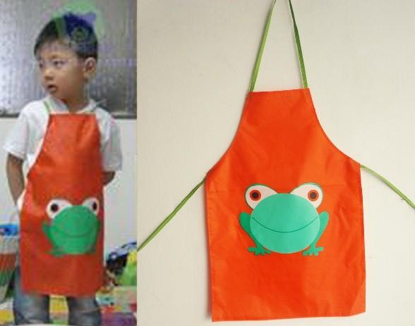 10pcs/lot Cartoon Animal PVC Waterproof Kitchen Apron For Baby Children Eating/Playing Pinafore 7-15years Free Shipping(China (Mainland))