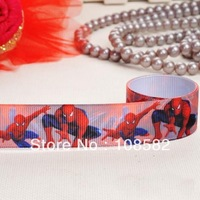 "HappyChino 7/8"" Spider  Man Grosgrain Ribbon Hair Bow Accessories"