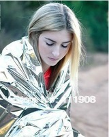 HOT SELL 2.1*1.3m sliver Emergency rescue Blanket,Life-saving blanket,SOS military blanket as first-aid quipment survival tool!