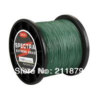 Free shipping  100% dyneema spectra braided fishing line 1000m  green 6LB10LB15LB20LB30LB40LB50LB65LB80LB100LB