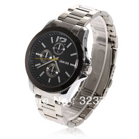 for  men  2012  Exquisite Man's Stainless Steel Band Watch - 9123 (Black)