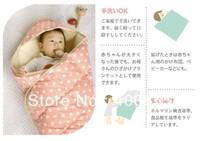 New Arrive Super warm and comfortable baby sleeping bag,Colorful polka dot sleepsacks,infant blanket,baby carry pack,3 colors