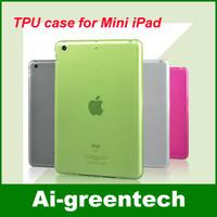 Free shipping For Apple iPad Mini TPU Case Cover, TPU clear crystal hard case for mini ipad multi colors