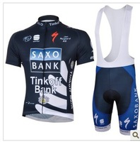 2013  NEW  SAXOBANK    team yellow Short Sleeve Cycling Jerseys +bib  Shorts
