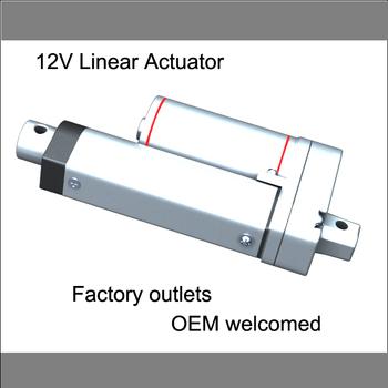 "Linear Actuator: 6"" Stroke, 12V, 150mm stroke,750N push load"